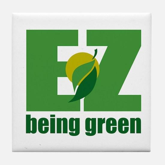 EZ Being Green Tile Coaster