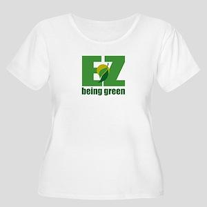 EZ Being Green Women's Plus Size Scoop Neck T-Shir