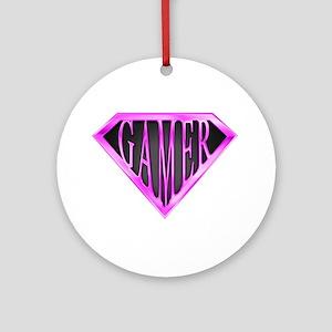 SuperGamer(Pink) Ornament (Round)