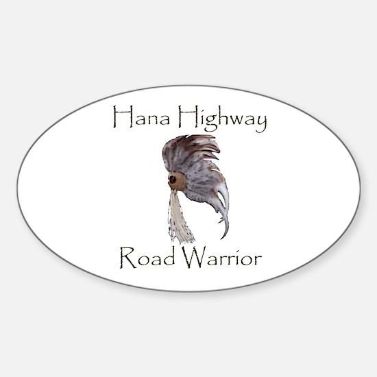Hana Highway Road Warrior Oval Decal