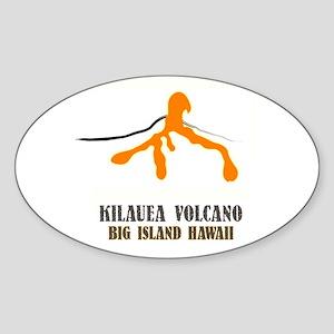 Kilauea Brushstroke Oval Sticker