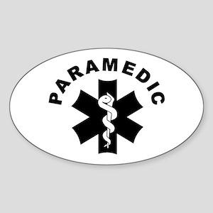 Paramedic Star Of Life Sticker (Oval)