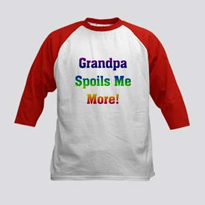 Grandpa spoils me more Kids Baseball Jersey