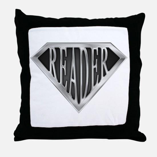 SuperReader(metal) Throw Pillow