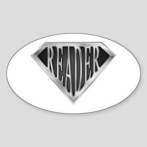 SuperReader(metal) Oval Sticker