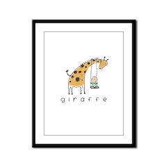 giraffe Framed Panel Print