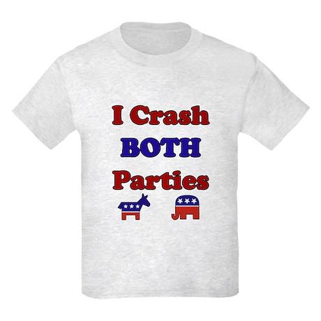 I Crash Both Parties Kids Light T-Shirt