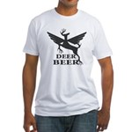 Deer beer Fitted T-Shirt