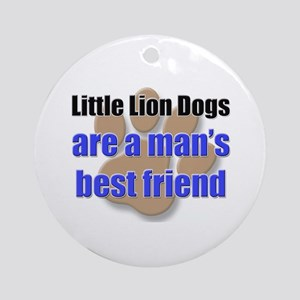 Little Lion Dogs man's best friend Ornament (Round