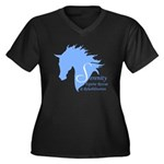 Serr Women's V-Neck Dark Plus Size T-Shirt