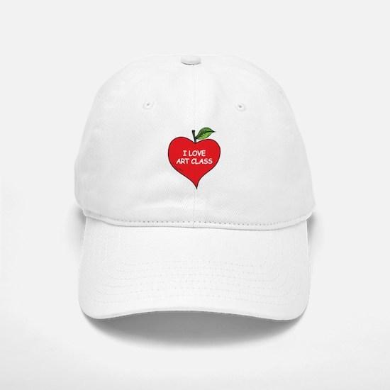 Heart Apple I Love Art Baseball Baseball Cap