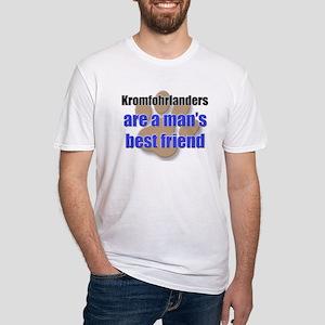 Kromfohrlanders man's best friend Fitted T-Shirt