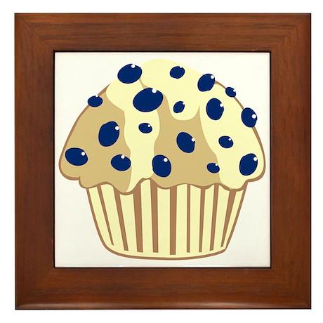 Blueberry Muffin Framed Tile