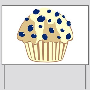 Blueberry Muffin Yard Sign