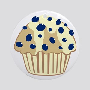 Blueberry Muffin Ornament (Round)
