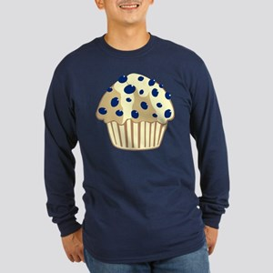 Blueberry Muffin Long Sleeve Dark T-Shirt