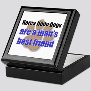Korea Jindo Dogs man's best friend Keepsake Box
