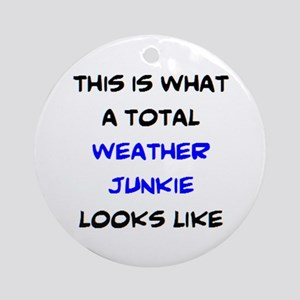 total weather junkie Round Ornament