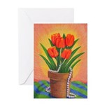 Tulips and Pearls Greeting Card