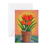 Tulips and Pearls Greeting Cards (Pk of 10)