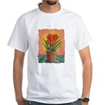 Tulips and Pearls White T-Shirt