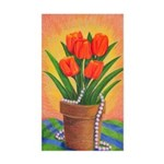 Tulips and Pearls Rectangle Sticker