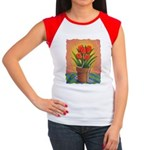 Tulips and Pearls Women's Cap Sleeve T-Shirt