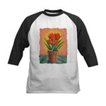 Tulips and Pearls Kids Baseball Jersey
