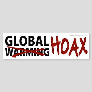 Global Warming Hoax Bumper Sticker