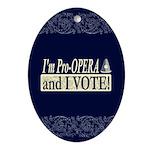 I'm Pro Opera Oval Ornament