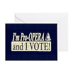 I'm Pro Opera Greeting Card
