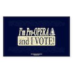 I'm Pro Opera Rectangle Sticker 10 pk)
