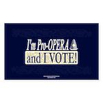 I'm Pro Opera Rectangle Sticker
