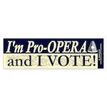 I'm Pro Opera Bumper Sticker (10 pk)
