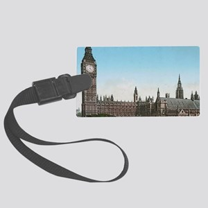 Houses of Parliament London, Eng Large Luggage Tag