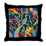 Leaves on Water Throw Pillow