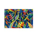 Leaves on Water Rectangle Magnet