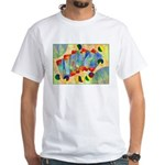 Poker Abstract White T-Shirt