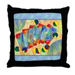 Poker Abstract Throw Pillow