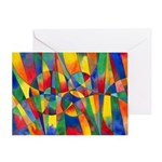 Color Shards Greeting Card