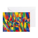 Color Shards Greeting Cards (Pk of 20)