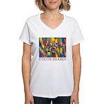 Color Shards Women's V-Neck T-Shirt