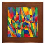 Color Shards Framed Tile