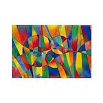 Color Shards Rectangle Magnet