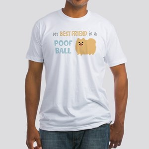 Pomeranian Poof Ball Fitted T-Shirt