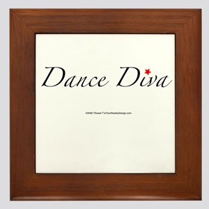 Dance Diva Framed Tile