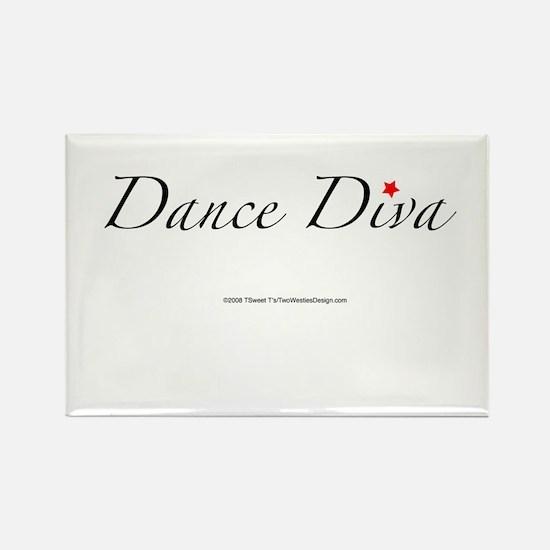 Dance Diva Rectangle Magnet
