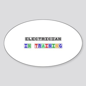 Electrician In Training Oval Sticker