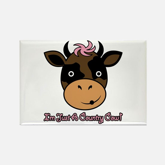 Country Cow Rectangle Magnet