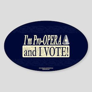I'm Pro Opera Oval Sticker